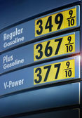 Gas prices — Stock Photo