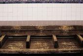 Banco de metro vacío — Foto de Stock
