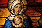 Vigin marie avec l'enfant jésus — Photo
