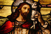 Jesus with Lamb — Stockfoto