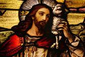 Jezus met lam — Stockfoto
