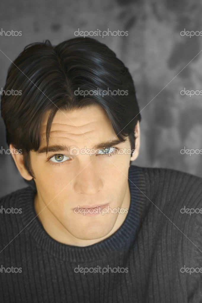 Closeup portrait of young goodlooking model — Stock Photo #8453745