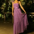 Young model in Purple dress — Stock Photo