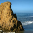 Large Rock formation on Beach - Stok fotoğraf