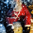 Stock Photo: Santa and Snow