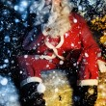Santa and Snow — Stock Photo #8471018