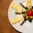Plate of cheese — Foto Stock