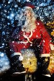 Santa and Snow — Stock Photo