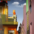 colorful buildings — Stock Photo