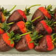 Chocolate covered strawberries — Stock Photo #8499357