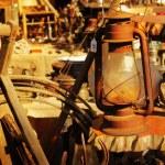 Old rusty lamp — Stock Photo