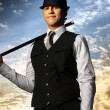 Stock Photo: Top hat and cane
