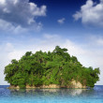 Small island — Stock Photo