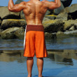 Bodybuilder back — Stock Photo #8501454