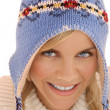 Winter woman closeup — Stock Photo