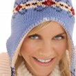 Stock Photo: Winter woman closeup