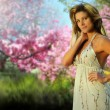 Woman in park — Stock Photo