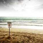 nessun segno di nuoto — Foto Stock