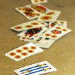 Italian playing cards — Stock Photo