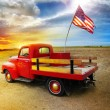 Stock Photo: Red Truck