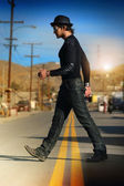 Man walking — Stock Photo