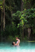 Couple in paradise — Stock Photo