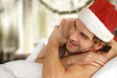 Szczęśliwy sexy santa — Zdjęcie stockowe