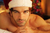 Romantic santa — Stock Photo