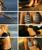 Bikini collage — Stock Photo