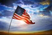 Oude glorie vlag — Stockfoto