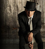 Man in top hat — Stock Photo