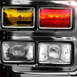 Shiny fire engine lights - Foto Stock