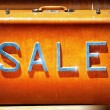 Sale on suitcase — Stock Photo