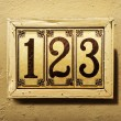 Stock Photo: 123 sign