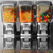 Vintage retro candy machines — Stock Photo