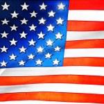 Plastic American flag background — Stock Photo