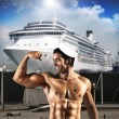 sexy sailor man — Stockfoto