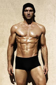 Sexig shirtless male modell — Stockfoto