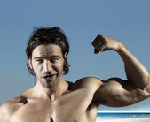 Sexy bicep guy — Stock Photo