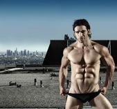 Sexy male underwear model — Stock Photo
