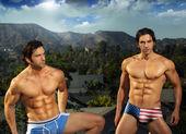 Sexy man passen tweeling — Stockfoto
