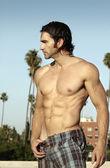 Shirtless man profile — Stock Photo
