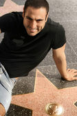 Man on walk of fame — Stock Photo