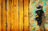 Anjo querubim na parede — Foto Stock