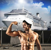 Sexy sailor man — Stock Photo
