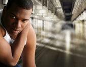 Portrait of a prisoner — Stock Photo