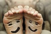 Happy feet — Zdjęcie stockowe