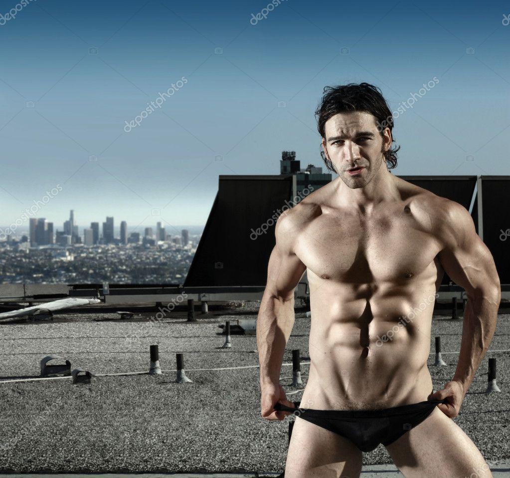 Sexy male underwear model - Stock Image