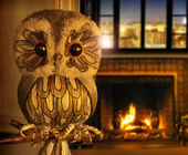 Owl at home — Stock Photo