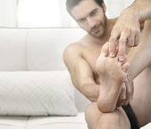 Man feet — Stock Photo